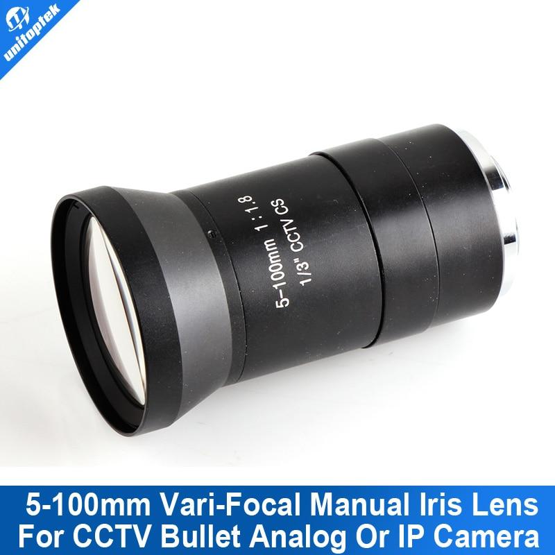 F1.8 CS CCTV Lens/Manual Vari-Focal 5-100mm/Camera Lens/Lenses/Board Mount/Manual Iris Lens For Analog/720P IP Camera 8mm 12mm 16mm cctv ir cs metal lens for cctv video cameras support cs mount 1 3 format f1 2 fixed iris manual focus