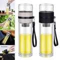 Botella de vidrio de borosilicato Infusor de té taza de viaje con colador para té de hoja suelta LBShipping