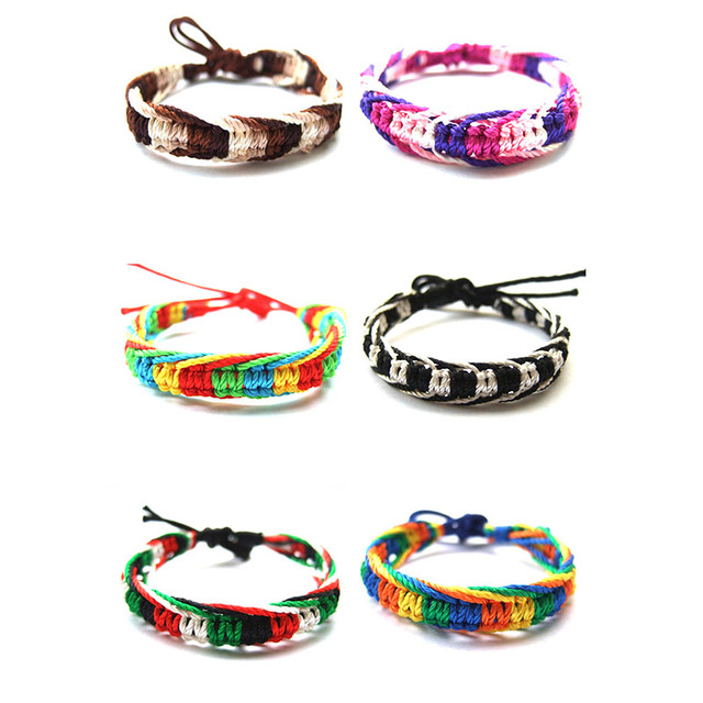 Fashion Friendship Bracelet Surf Surfer Wristband Hippy Boho Choose Your Style For Friend Gift