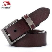 DINISITON de vaca de cuero genuino cinturones para hombres de los hombres  de lujo cinturón de cuero cinturón de hebilla Casual H.. b1c0c946a653