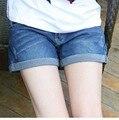 Verão Shorts Jeans Maternidade Para Grávidas Roupas Femininas Gravidez Roupas Curtas Calças de Brim Calças de Maternidade Gravida Novo 2017