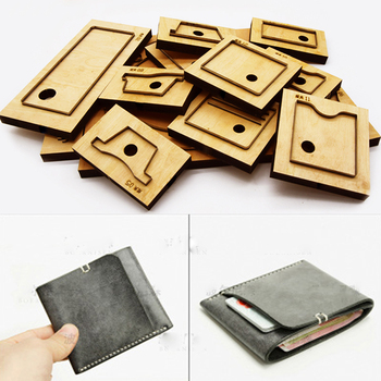 DIY leather craft simple making wallet card holder bag knife mould die cutter hand machine punch tool template