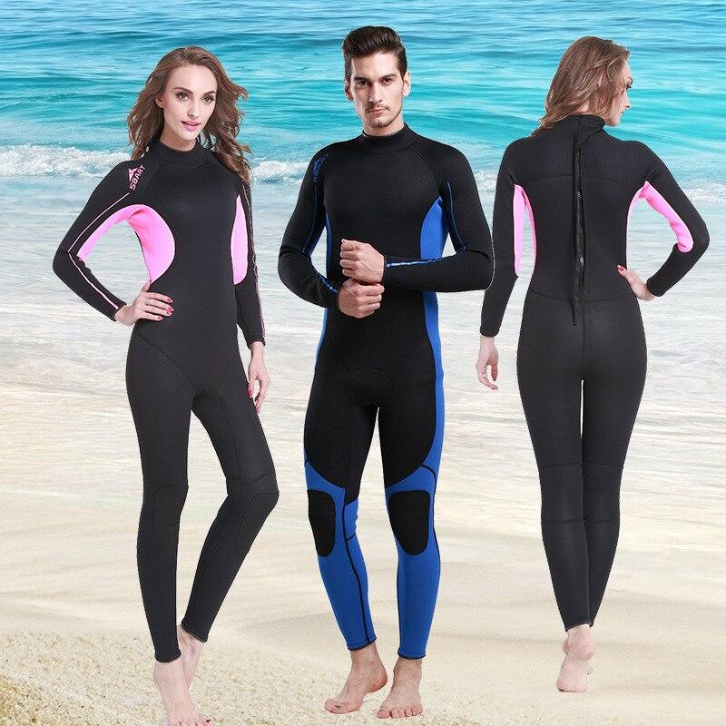 Combinaison humide une pièce homme femme surf combinaisons de plongée 3MM néoprène combinaison hommes femmes 2019 hiver chaud maillots de bain maillot de bain anti-éruption