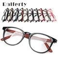 Ralferty Unisex Vintage Gafas Redondas Con Lente Transparente, mujeres de Los Hombres Del Espejo Del Llano Prescription Miopía Óptica Marco de Anteojos