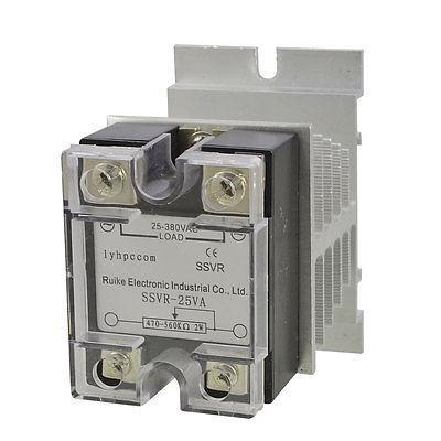 AC 25-380V Solid State Relay Voltage Resistance Regulator 25A w Heat Sink Dporn normally open single phase solid state relay ssr mgr 1 d48120 120a control dc ac 24 480v
