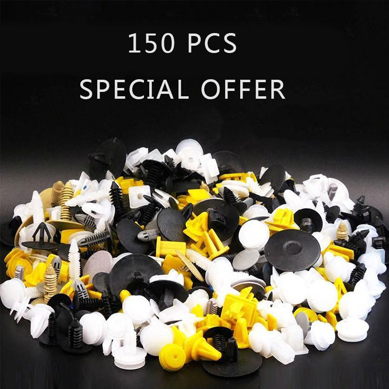 150Pcs Mixed Plastic Auto Fastener Car Bumper Fender Clips Auto Trim Clip Rivet Fit For All Car Interior Accessories image