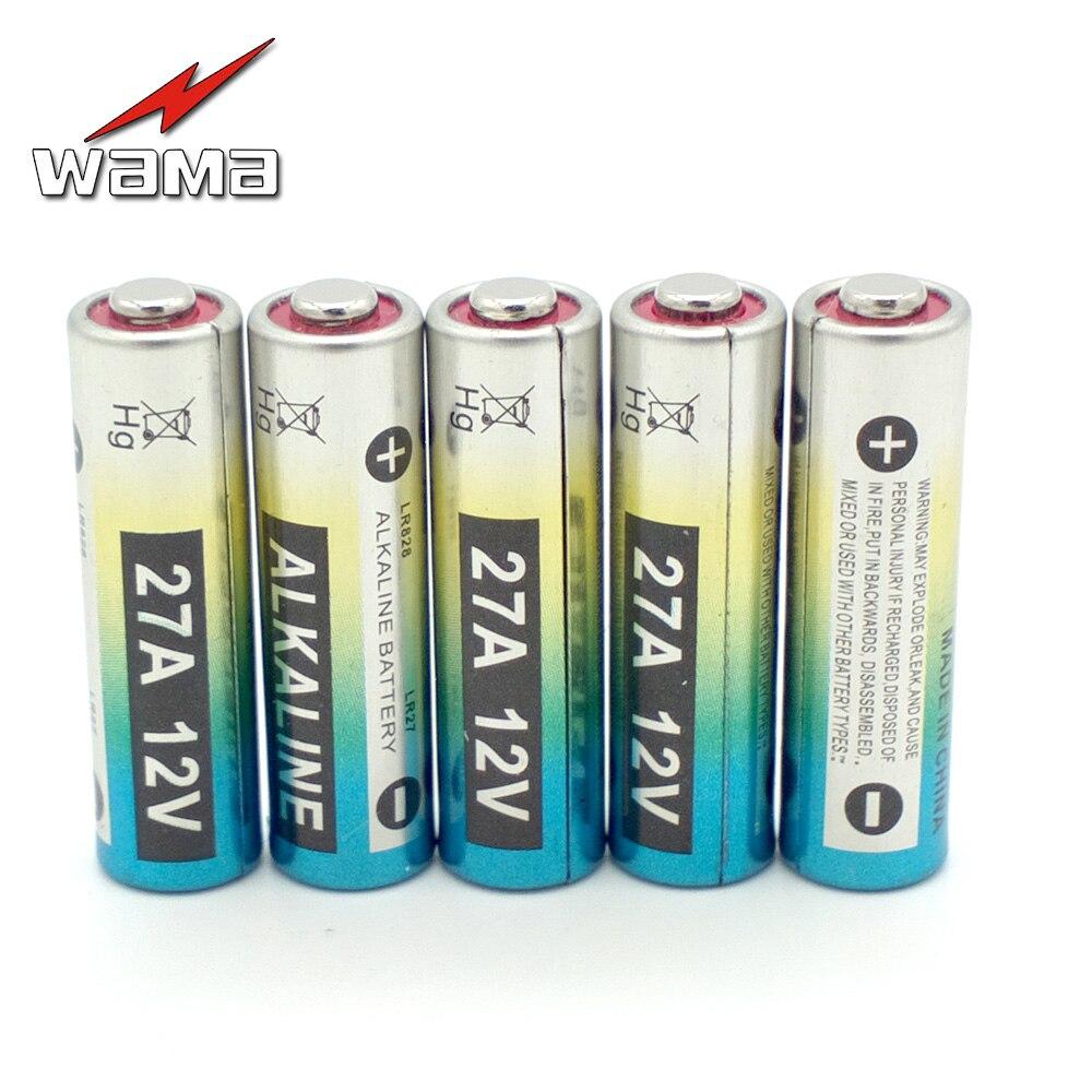 5x wama a27 alcalina 12 v 27a pilas secas primaria 27ae 27mn 55 mah batería de c