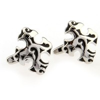 Jewelry Silver Funny Classic Cross Cufflinks Brand