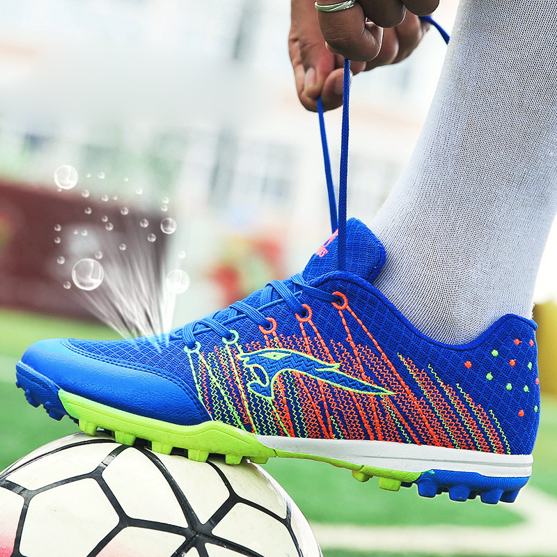 Football Shoes Woman Mesh Breathable Soccer Male Shoes Broken Nails Female Primary School Rugby Competition Training Shoes Men