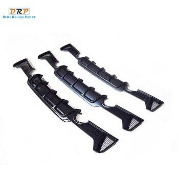 Drei stile 4 serie auto hinten stoßstange doppel heraus diffusor glänzend/matt schwarz und carbon look fit für BMW 4 serie 420 425 430