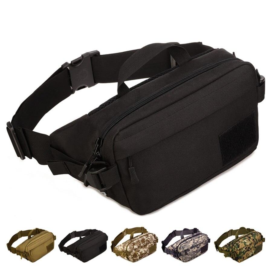 Nylon Men Hip Bum Belt Fanny Chest Bag Waterproof Messenger Cross Body Bags Travel Waterproof Military Assault Purse Waist Pack