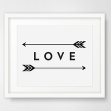 Arrow Wall Art, Love Print Two Feather Arrows, Art Modern Picture Canvas Poster Oil Painting No Frame