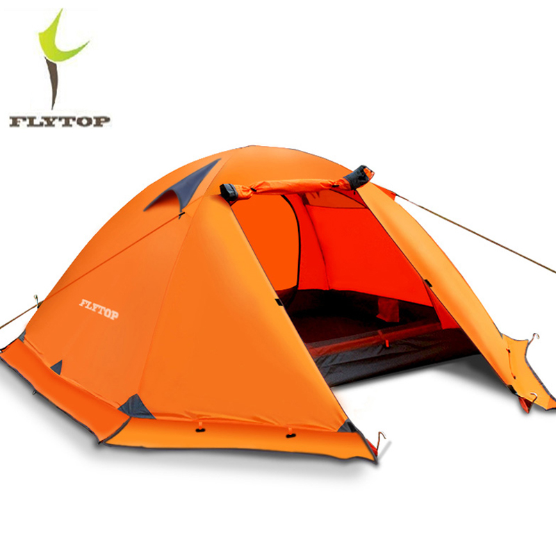 Ultralight Camping Hiking Tent 2 3 Person 4 Seasons Outdoor Recreat Tent Waterproof Double Layers Beach