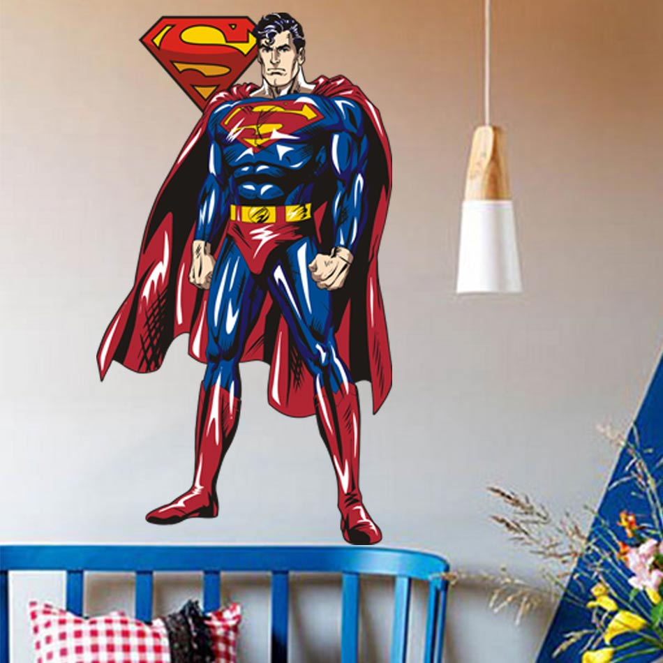 Sticker for kids room picture more detailed picture about 2017 2017 superman wall sticker decor decal vinyl room art comics decals 3d superhero wall stickers for amipublicfo Gallery