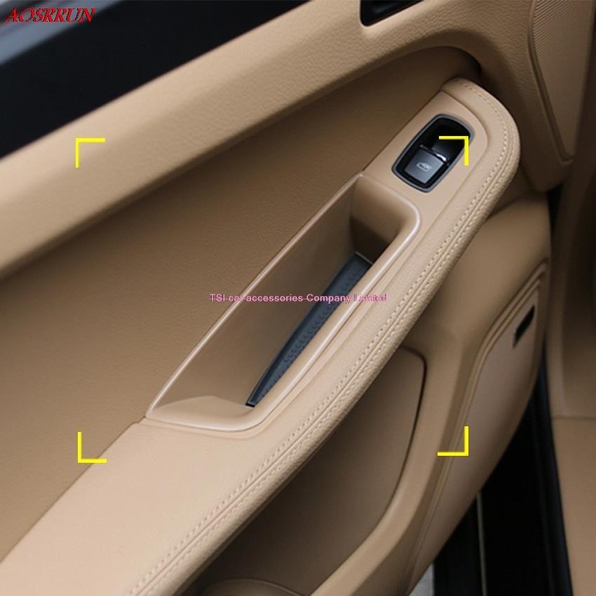 DOOR door handle slot storage box stowding tidying For PORSCHE Macan S turbo 2014 2015 2016 car accessories car-styling