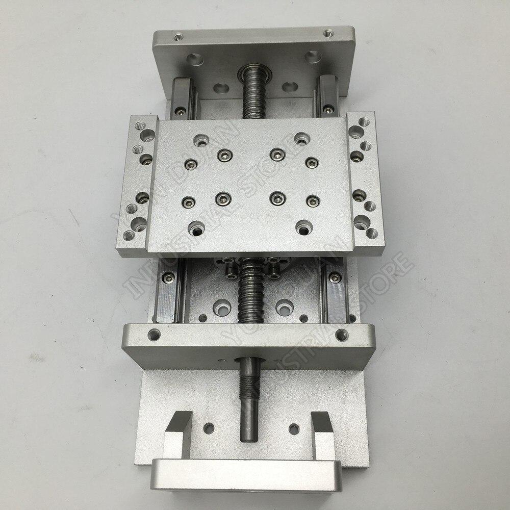 Heavy Load XYZ Axis Cross 100MM 200MM Stroke Module Electric Sliding Table Slide Linear Stage Ballscrew