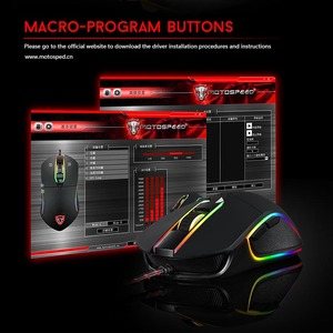 Image 4 - Motospeed V30 RGB תכנות 3500 DPI משחקי Gamer עכבר USB מחשב Wried אופטי עכברים הנשימה תאורה האחורית LED עבור מחשב משחק