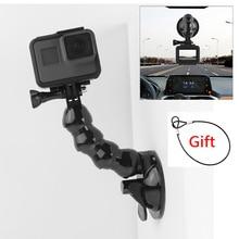 Suction Cup Car Mount for GoPro Hero 8 7 6 5 4 Insta360 Yi 4k Go pro Cameras SJcam SJ4000 DJI AKASO EKEN with Safety Tether