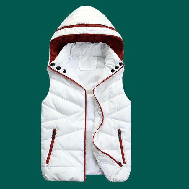 Os amantes de design destacável com capuz para baixo do colete de algodão colete mulheres coletes homens coletes quentes para o outono e inverno frete grátis