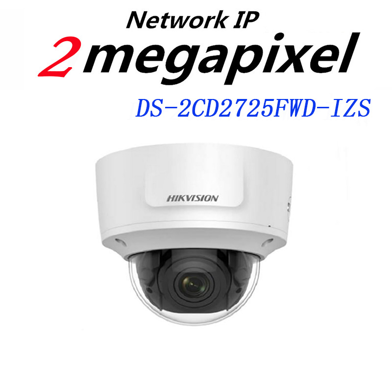 HiKvision H.265 IP Camera 2MP WDR Motorized Vari-focal Dome Network Camera DS-2CD2725FWD-IZS Replace DS-2CD2722FWD-IZS hikvision 3mp low light h 265 smart security ip camera ds 2cd4b36fwd izs bullet cctv camera poe motorized audio alarm i o ip67