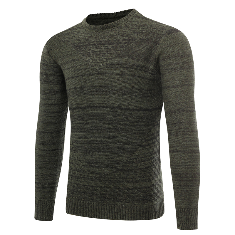 Mens keep warm casual Sweater New winter Metrosexual men pullovers O-neck striped sweater criss-cross decorate big size S-XXL