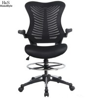 Homdox Office Chair Off Ergonomic Adjustable Drafting Reception Office Stool Chair Swivel chairs with Armrests N30*