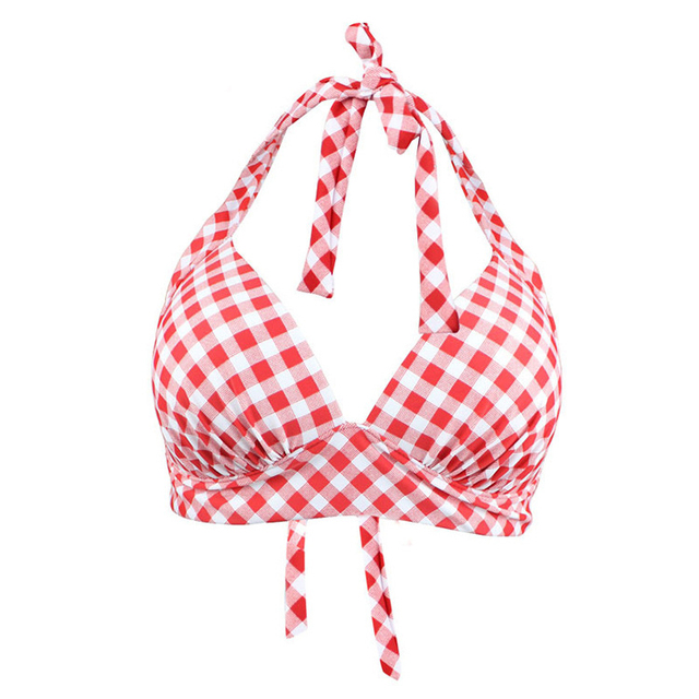 Maillots de bain femmes haut de bikini sangle deux pièces sépare les bonnets de soutien-gorge à armatures vêtements de plage Push Up maillots de bain grande taille