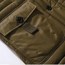 Large Size Winter Jacket Men Casual Windproof Warm Male Parka Jacket Fashion Solid Outerwear Pocket Medium-Long Jacket Coats 5XL