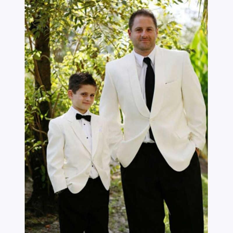 白ショール襟スーツ男性、カスタマーオムファッションタキシードメンズ新 Terno スリムフィットブレザー terno masculino (ジャケット + パンツ)