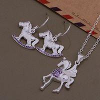 AS406 Hot 925 sterling  silver Jewelry Sets Earring 632 + Necklace 765 /apyajhfa awlajnsa