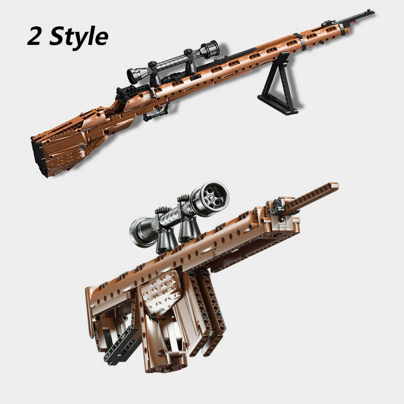 PUBG Guns 98K Model Compatible Legoing Military Building Blocks Ww2 Sniper  rifle Weapon Sets SWAT Bricks Boy Toy Gift