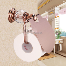 bathroom accessories luxury crystal u0026 brass rose gold paper holder roll holder toilet tissue box gold paper box