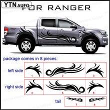 mudslinger fire cool body rear tail side graphic vinyl for Ford ranger 2012 2013 2015 2017 sticker