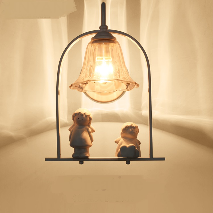 Bedroom angel wall lamp bedside European style originality simple and warm personality children Wall lights LO711313 скатерть angel ya children tsye zb266 88