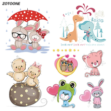 ZOTOONE Iron on Transfer Patches for Clothing Cute Cartoon Animal Cat T Shirt Beaded Applique Clothes Decoration DIY Kids Gift G