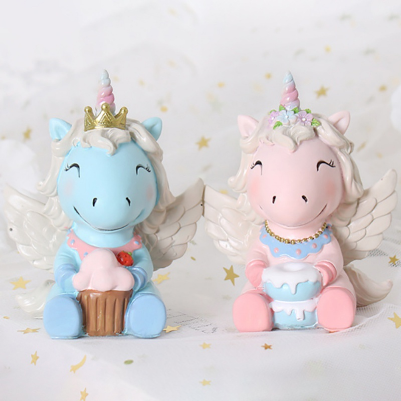 Cute Baby Gifts Creative Home Unicorn Resin Ornaments Bedroom Living Room Desktop Home Decorations цена