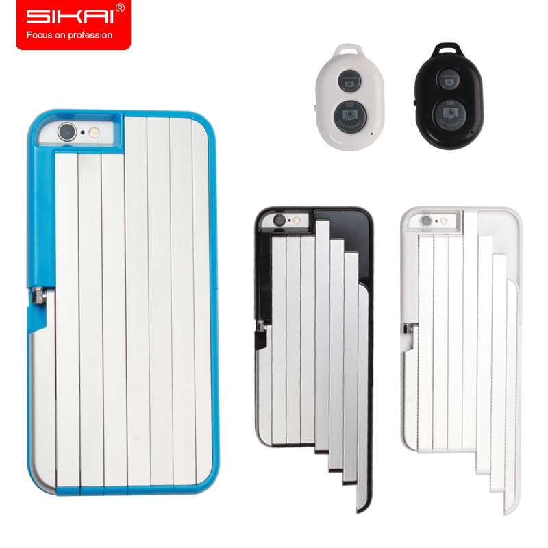 2017 sikai new design selfie stick case for iphone 6 6 plus case build in bluetooth remote. Black Bedroom Furniture Sets. Home Design Ideas