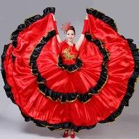 Flamenco Skirt Spanish Senorita Flamenco Dancer Fancy Dress Costume Brazil Dance Costume Gypsy Ro Flamenco Dress S XXXL DL2891