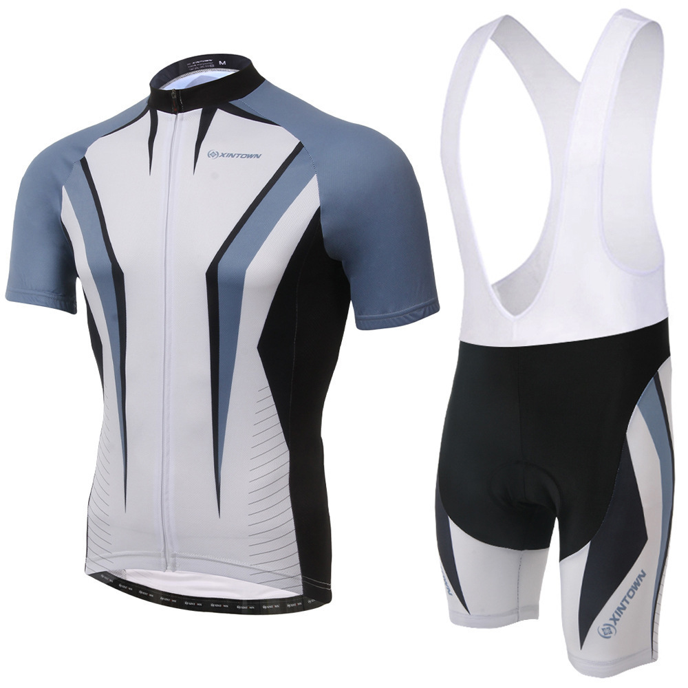 цена на XINTOWN Cycling Team Clothing Bike Jersey Quick Dry Mens Bicycle Clothes Short Sleeve Pro Cycling Jerseys Gel Bike Shorts Set