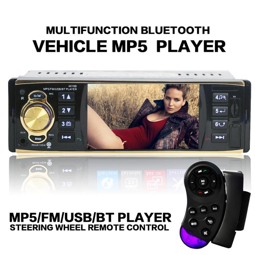 HOT SALE 4.1 Inch In-Dash Car Bluetooth Stereo Aux Input USB/SD/FM/MP5/BT/WMA/MP3 Radio Player   YYH*  Free Shipping Vicky car usb sd aux adapter digital music changer mp3 converter for skoda octavia 2007 2011 fits select oem radios
