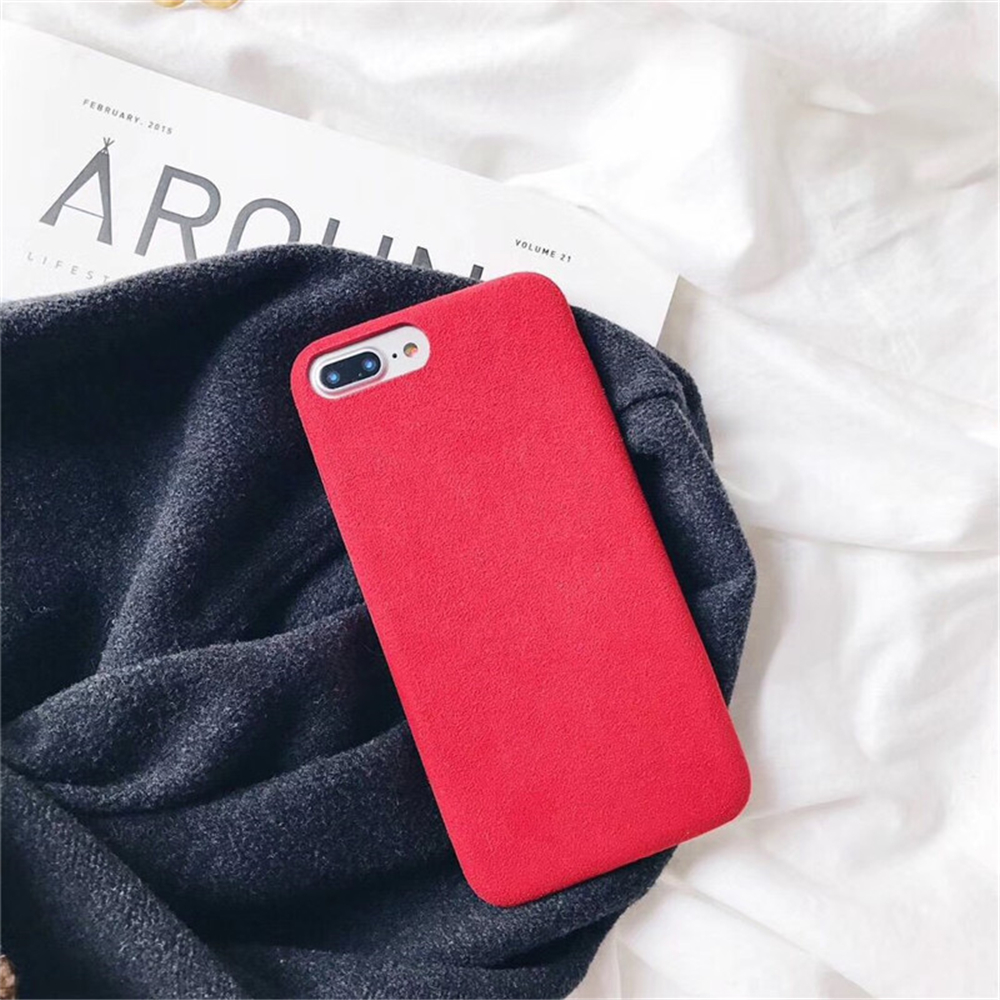 Soft Plush Phone Cases For Apple iPhone 8 7 6 6S Plus Coque For iPhone X XR XS Max Winter Warm Fur Furry Cover Shell Gift Fundas07