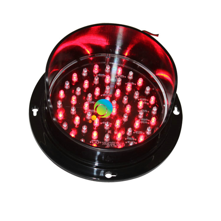 DC12V Or DC24V 125mm Exclusive Mould Red Lamp LED Signal Light Mini Traffic Light For Sale