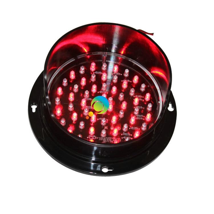 DC12V Or DC24V 125mm Exclusive Mould Red Lamp LED Signal Light Mini Traffic Light For Sale