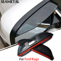For Ford Kuga 2013 2014 2015 2016 Car Styling Rearview Mirror Eyebrow Rainproof Exterior Blade Protector ABS Accessories