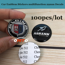 100 pieces multifunction Stickers 29mm Decals Auto Accessories Car Emblem 2.9cm For Blue white Alpina logo badge Stickers label
