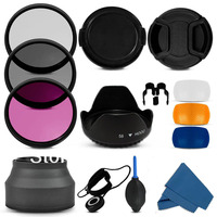 Free Shipping Tracking Number 1pcs Professional 72MM Filter CPL UV Fld Lens Hood Cap Blower Cleaning