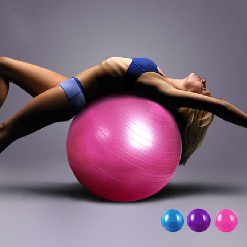 Sport Pilates Yoga Fitness Ball Exercise yoga Ball multi-use burstproof PVC  fit ball Gym center use trainning fitness balls 65cm 70421b697