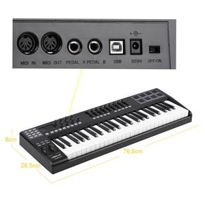 Image 4 - PANDA49 49 Key MIDI Keyboard  MIDI Control USB Controller MIDI Keyboard 8 Drum Pads with USB Cable White or RGB Light Backlit