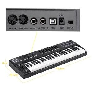 Image 4 - PANDA49 clavier pour contrôleur MIDI, 49 touches, 8 tambours, avec câble USB, blanc, rétroéclairage RGB