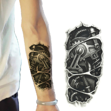 Hot Temporary Tattoo Sticker Waterproof 3D Tattoo Body Art Fake Temporary Tattoo Paper Robot Man Tattoo Arm Paer for Men Z3